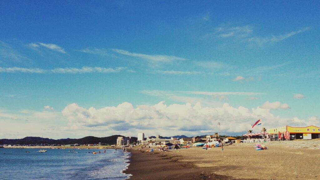 館山の北条海岸